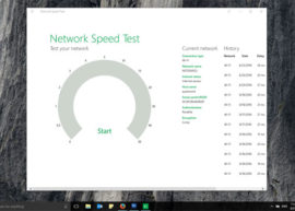 Test the speed of your internet connection with Windows 10