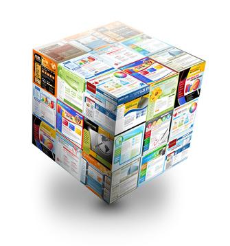 Internet Website 3D Box on White